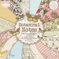 Primera Edición Botánica Notas 6x 6 Papeles Muestra 16 x 6x6 diseñador Paquetes