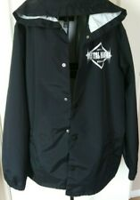 Metal Mulisha  Black Hooded Wind Breaker Button Up Men's Jacket Sz Large