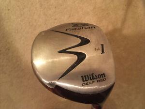 Wilson Deep Red Fat Shaft Titanium 365cc 9° Driver Regular Flex Graphite Shaft