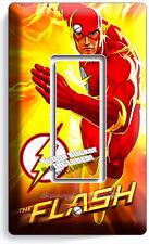 FLASH COMICS SUPER HERO YELLOW FLAMES SINGLE GFCI LIGHT SWITCH WALL PLATE COVER