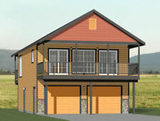 24x32 House -- 1 Bedroom 1.5 Bath -- 830 sq ft -- PDF Floor Plan -- Model 7