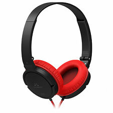 SoundMAGIC P10S Headphones Headset with Mic for Gaming Computer PC - Black/Red