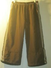 Fuda Size Large Soft Brown Side Striped Athletic Pants W/ Drawstring and Elastic
