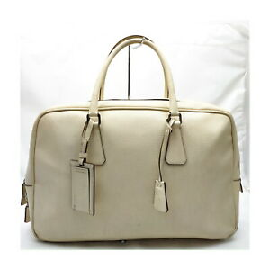 Prada Boston Bag  Whites Leather 1420834
