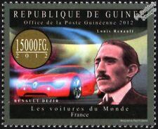 Louis Renault & Renault DeZir Electric Concept français voiture TIMBRE (2012-Guinée)