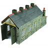 Metcalfe PN932 Engine Shed - Single Track Stone N Gauge Card Kit