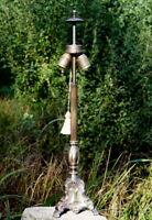antiker großer Lampenfuß 70 cm um 1930 Messing poliert