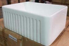 "24"" Farmhouse Single Basin Fireclay Kitchen Sink Reversible"