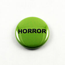 Horror VHS Sticker 1 Inch Pinback Button - logos sticker replicas video rental