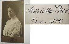 Wesel - Frau Marietta ? im Kleid - 1908 - Portrait / CDV