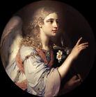 Oil painting ovikovskii Vladimir Archangel Gabriel girl angel & flowers canvas