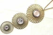 3 Part Pendant_Lovely Stones - New Accessorize Long Gold Necklace – Very Large