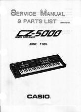 CASIO CZ-5000 CZ5000 Service-Repair Manual - Booklet
