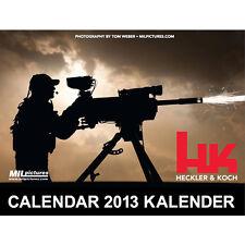 2013 HECKLER & KOCH HK Special Ed. CALENDAR HK45 MP5 MR556 MR762 P30 G36 VP9 P7