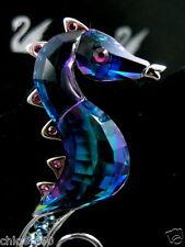SIGNED SWAROVSKI CELEYA CRYSTAL SEAHORSE  PIN ~ BROOCH RETIRED NEW IN BOX
