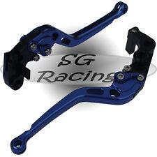 Long Blue CNC Alloy Adjustable GP Brake & Clutch Levers BMW S1000RR 2012