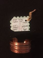Navajo Tribal Solid Copper Cuff, See 6 pics 4 Details/size & Use Zoom.MAKE OFFER