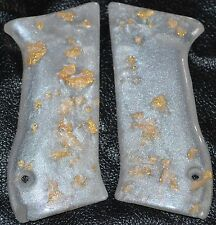 Jericho 941 pistol grips smooth pearl with gold leaf plastic