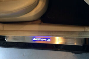Blue LED Light Door Sills Scuff Plate Guard Fit for Mercedes-Benz AMG W210 W211