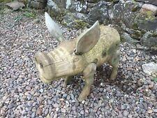 Wooden Rustic Garden Pig