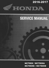 Honda 2016 2017 NC700 NC750 X XA XD service manual on CD