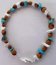 6 Navajo Indian Ghost Cedar Bead Juniper Berry Turquoise Howlite Bracelets