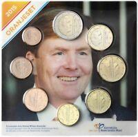 Niederlande Euro KMS 2015 Stempelglanz 1 Cent bis 2 Euro Satz im Blister
