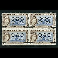 BAHAMAS 1964 Olympic. Ovpt. SG 245. Mint Never Hinged Block of Four. (BH328)