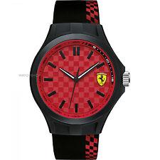 Scuderia Ferrari 830325 Men's Pit Crew Strap SPORT RED DIAL Watch