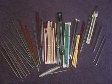 Huge Lot Of Vintage Knitting Sewing Needles Storage Case Single Double 75+