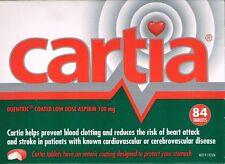 ==> CARTIA 100MG  ASPIRIN 84 ENTERIC COATED  TABLETS