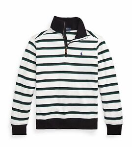 NWT Polo Ralph Lauren Boys Striped Quarter Zip Pullover S,M,L