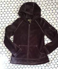 Kristen Blake Velour Jacket Women's Hoodie Full Zip Black Sz M Soft Plush