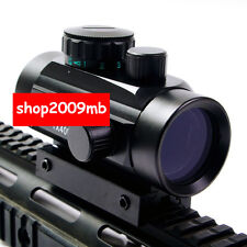 1X40 Red Green Dot Scope Sight 11mm/20mm picatinny/Weaver Rail Mount for Rifle