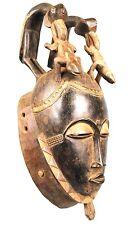 Art Africain Tribal - Imposant Masque Baoulé - Sculpture Spectaculaire - 53 Cms