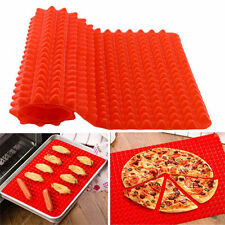 1x Pyramid Pan Non Stick Fat Reduce Silicone Cooking Mat Oven Baking Tray Sheets