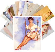 24 Postkarten Set *Sexy Girls in Beautiful Lingerie by Fritz Willis Retro CC1042