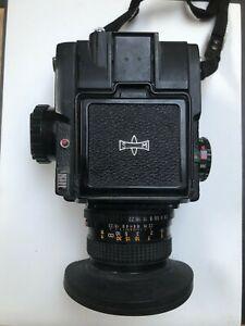 Mamiya M645 Medium Format Camera w/ 80mm Sekor Lens + Waist Level Finder