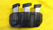 NICE TRIPLE MAG HOLSTER BLACK KYDEX FITS Glock ALL 9mm and 40 cal. OWB