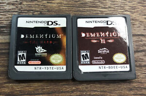 DEMENTIUM ii 2 & The Ward Nintendo DS 2-Game Lot Game Cartridge Only Tested RARE