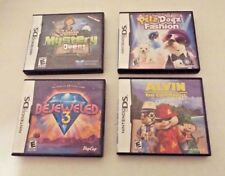 4 Nintendo DS Games Junior Mystery Quest Alvin and the Chipmunks Bejeweled Petz