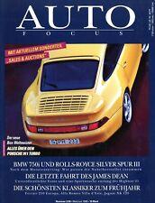 Auto Focus 1995 3/95 James Dean 911 Turbo 3.6 XK 120 750i Silver Spur III Lancia