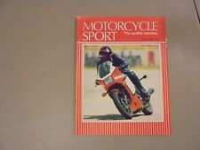 AUGUST 1984 MOTORCYCLE SPORT MAGAZINE,750 DESMO DUCATI,SPANISH GP,WASP,SUNBEAM