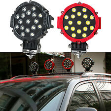 "7"" 102W Round Spotlight Led Bumper Roof Work Lights Jeep Off Road RollersDriving"