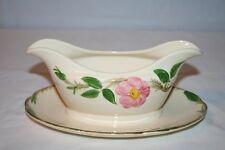 Franciscan Desert Rose Gravy Boat & Attached Underplate Brown TV logo