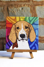 American Foxhound Ceramic Coaster Tile