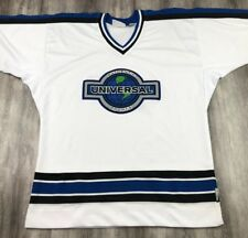Vintage 90's Universal Studios Authentic Sports Blue White Football Jersey S