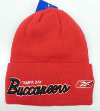 TAMPA BAY BUCCANEERS NFL VTG KNIT REEBOK RED SCRIPT WINTER BEANIE CAP HAT NEW!