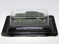Toyota Corolla Levin TE27 1972 Green color 1/64 Miniature car 1:64 KONAMI Japan
