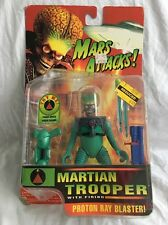 1996 Trendmasters Mars Attacks Martian Trooper Action Figure Proton Ray Blaster